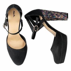 NWOT High Glitter Platform Heels